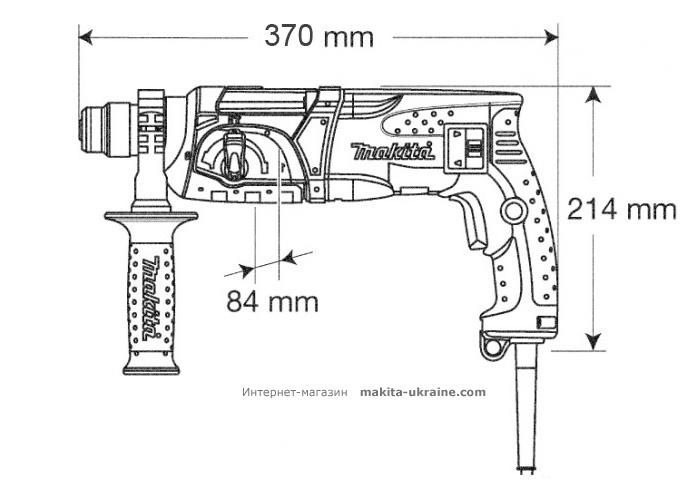 Перфоратор MAKITA HR2470 + набор буров D-00795