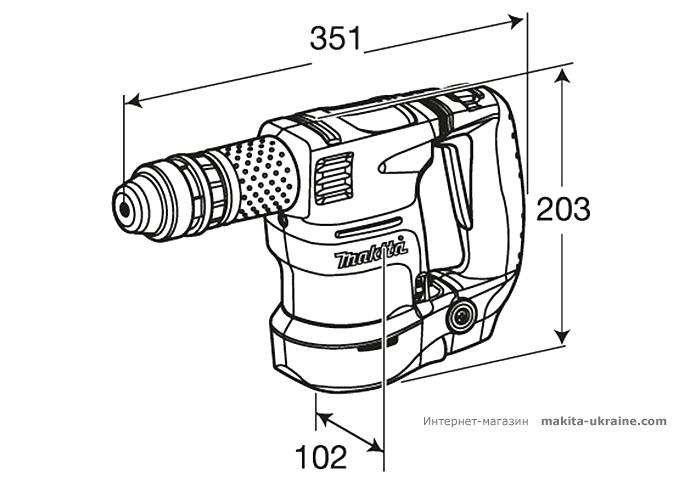 Легкий отбойный молоток MAKITA HK1820