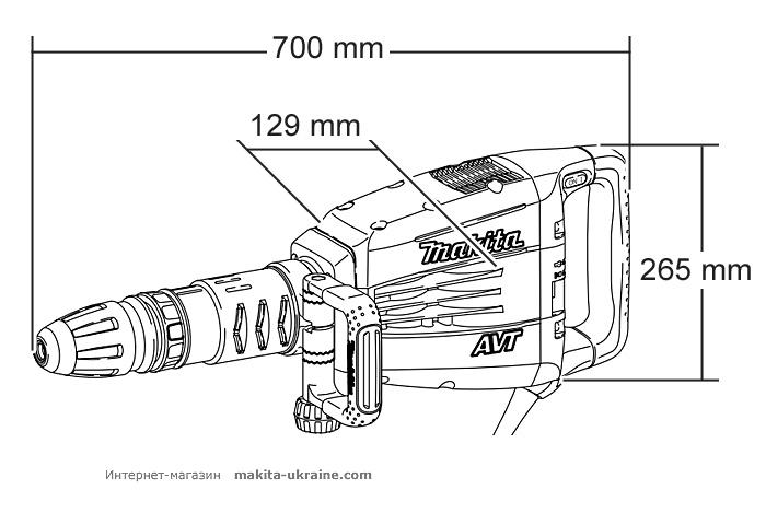 Отбойный молоток MAKITA HM1214C