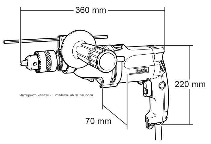 Ударная дрель MAKITA HP2051H