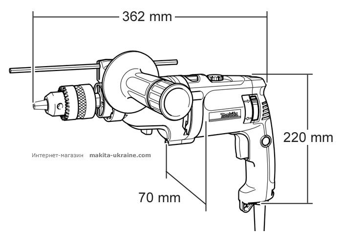 Ударная дрель MAKITA HP2070