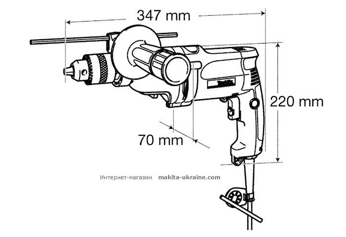 Дрель MAKITA DP4010 + набор сверл
