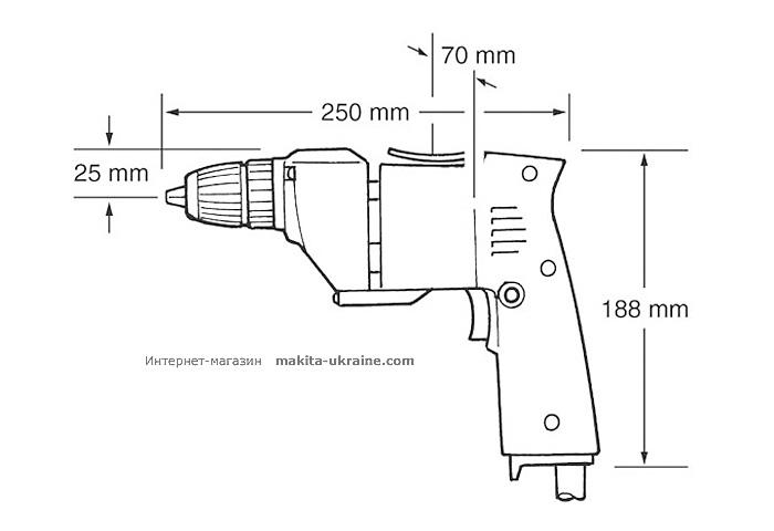 Дрель-шуруповерт MAKITA 6510LVR