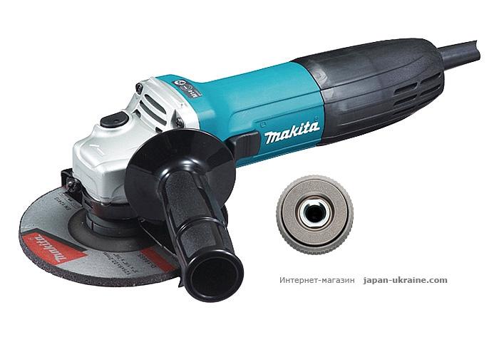Болгарка MAKITA GA5030 + быстрозажимная гайка
