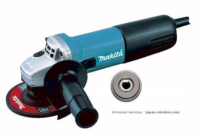 Болгарка MAKITA 9558HNG + быстрозажимная гайка