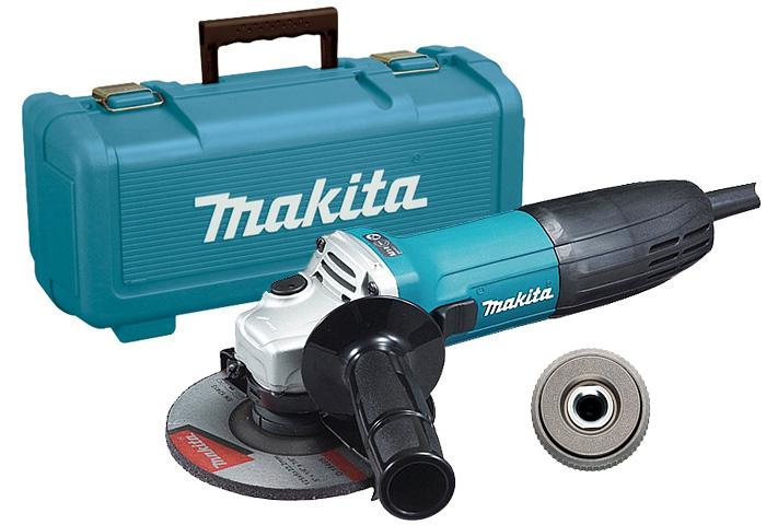 Болгарка (УШМ) MAKITA GA5030 + кейс 824806-0 + быстрозажимная гайка