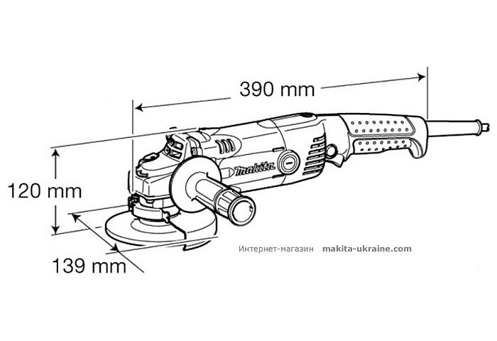 Болгарка (УШМ) MAKITA GA5021C + быстрозажимная гайка