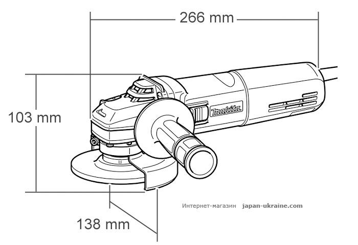 Болгарка MAKITA GA5030 + кейс 824985-4 + быстрозажимная гайка
