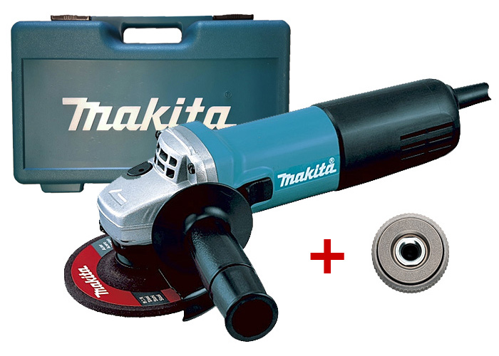 Болгарка MAKITA 9558HNG + кейс 824985-4 + быстрозажимная гайка