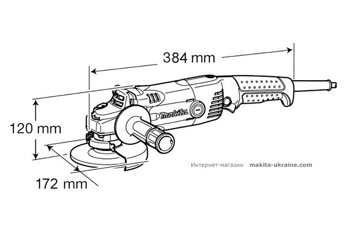 Болгарка (УШМ) MAKITA GA6021 + быстрозажимная гайка