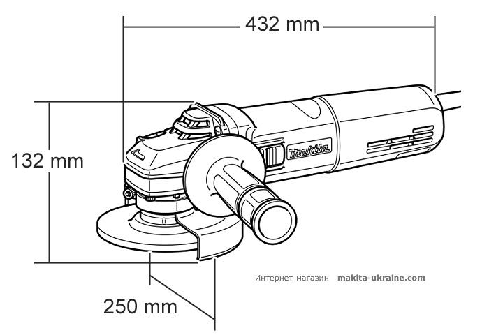 Болгарка (УШМ) MAKITA GA9050 + быстрозажимная гайка