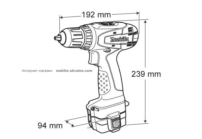 Аккумуляторная дрель-шуруповерт MAKITA 6270DWPE