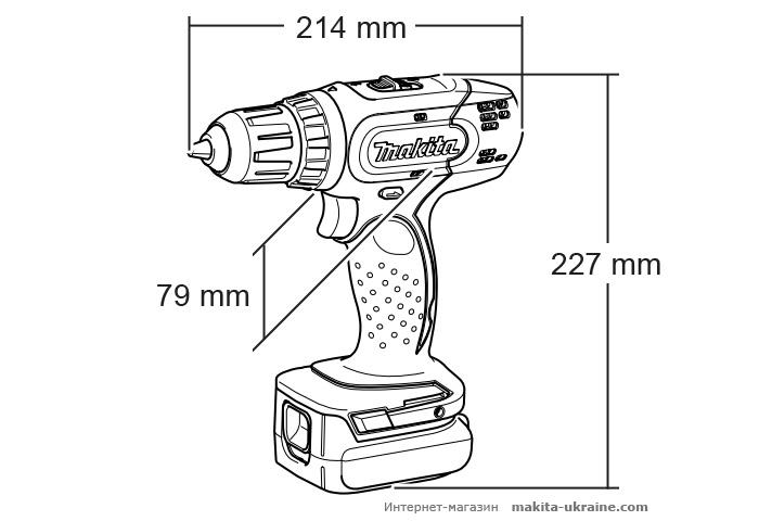 Аккумуляторная дрель-шуруповерт MAKITA BDF453SHE