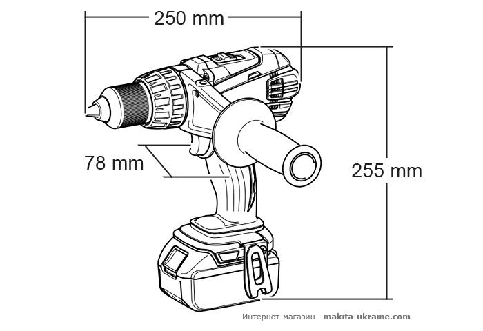Аккумуляторная дрель-шуруповерт MAKITA BDF458Z