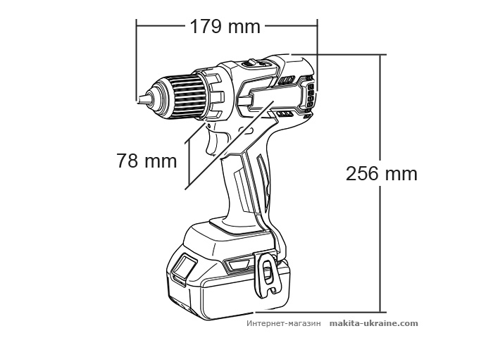 Аккумуляторная дрель-шуруповерт MAKITA BDF459Z