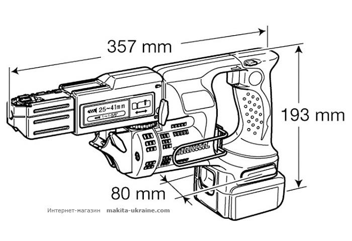 Аккумуляторный магазинный шуруповерт MAKITA BFR440RFE