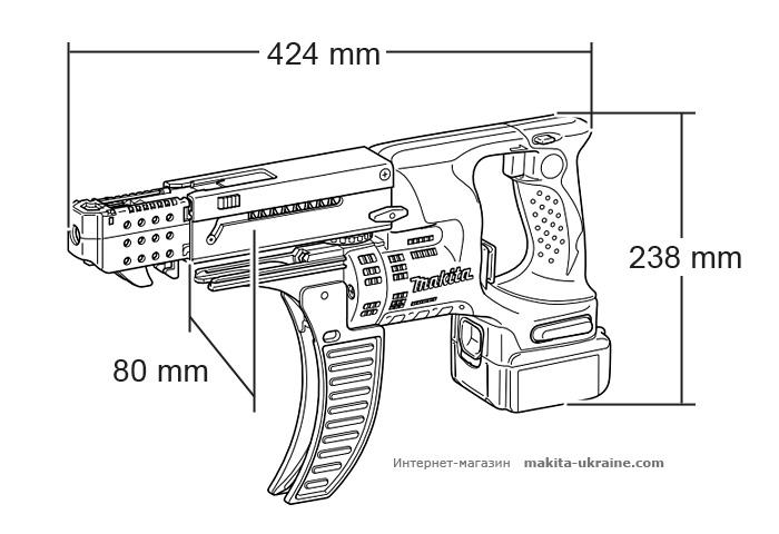 Аккумуляторный магазинный шуруповерт MAKITA BFR550RFE