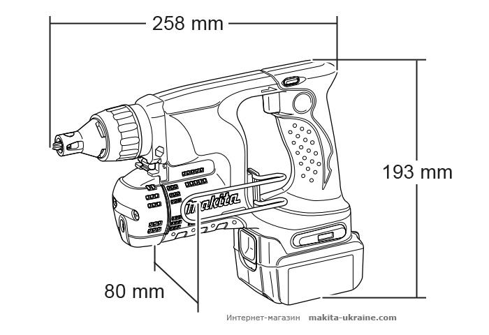 Аккумуляторный шуруповерт MAKITA BFS450Z