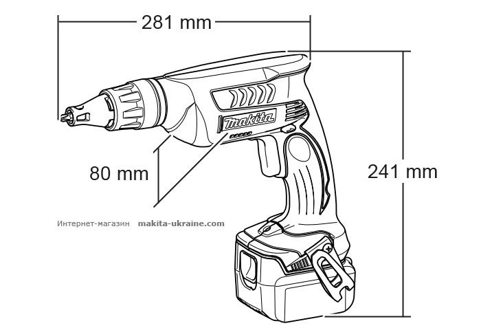 Аккумуляторный шуруповерт MAKITA BFS451Z