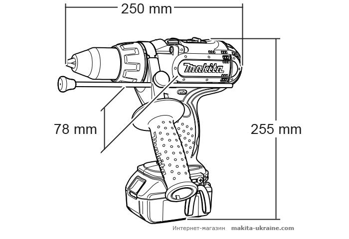 Аккумуляторный ударный шуруповерт MAKITA BHP441RFE
