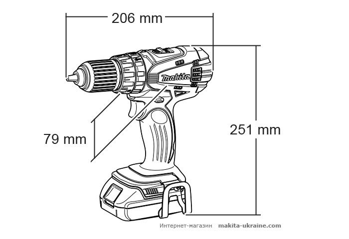 Аккумуляторный ударный шуруповерт MAKITA BHP456RFE