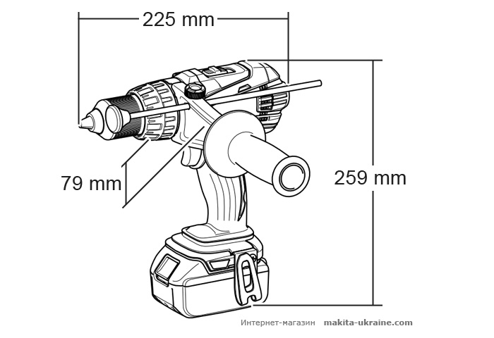 Аккумуляторный ударный шуруповерт MAKITA BHP458RFE