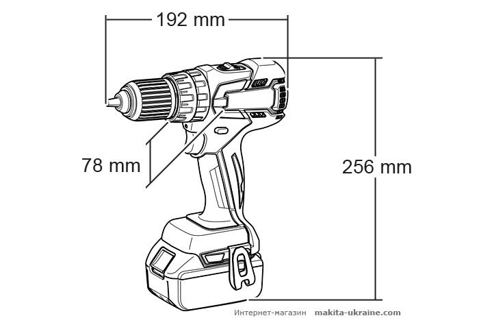 Аккумуляторный ударный шуруповерт MAKITA BHP459Z