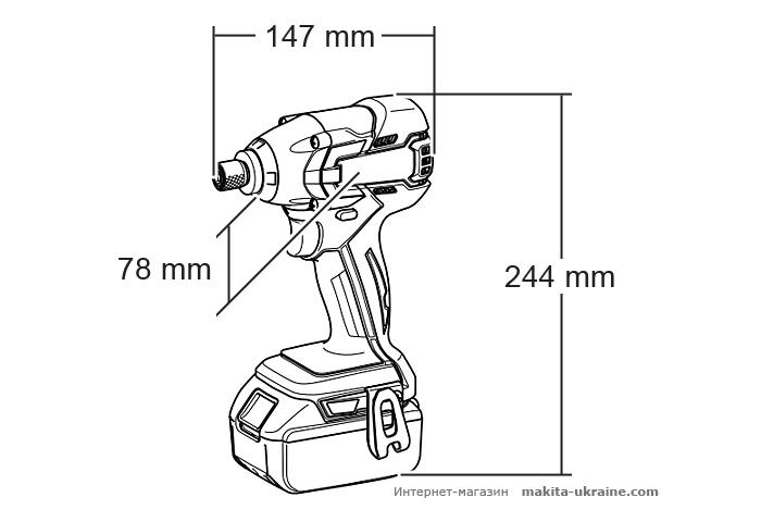 Аккумуляторный ударный шуруповерт MAKITA BTD129Z