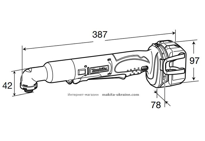 Аккумуляторный угловой шуруповерт MAKITA BTL060RFE