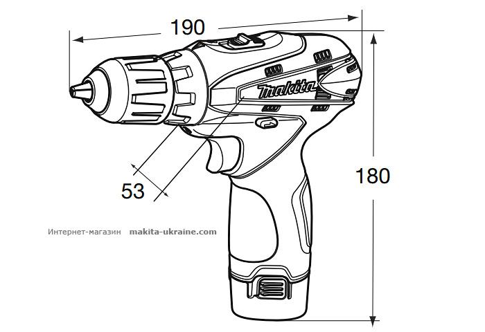 Аккумуляторный шуруповерт MAKITA DF330DWLE