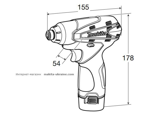 Аккумуляторный ударный шуруповерт MAKITA TD090DWE