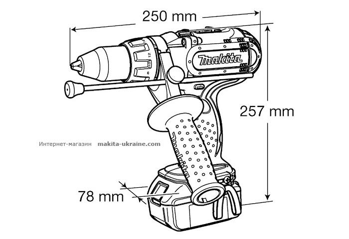 Аккумуляторный ударный шуруповерт MAKITA BHP451RFE