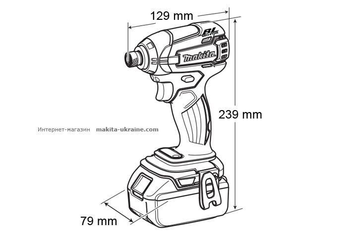 Аккумуляторный ударный шуруповерт MAKITA BTD147RFE