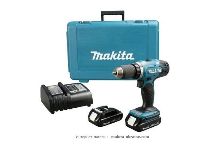 Аккумуляторный ударный шуруповерт MAKITA HP457DWE