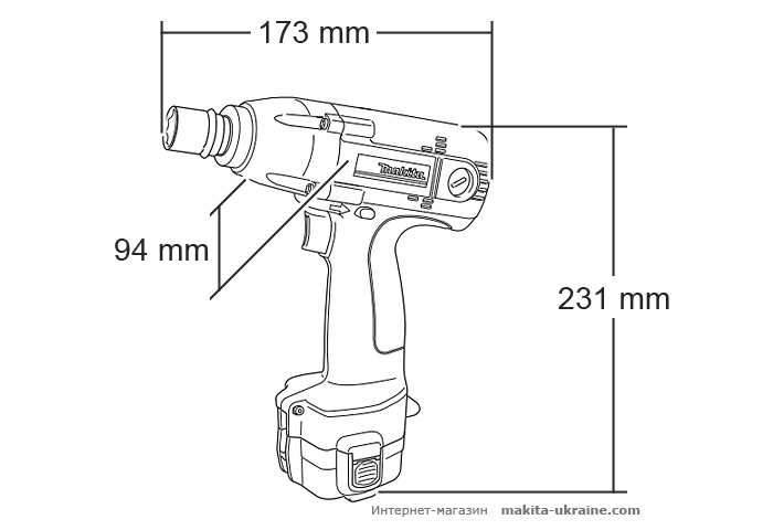 Аккумуляторный ударный гайковерт MAKITA 6918FDWDE