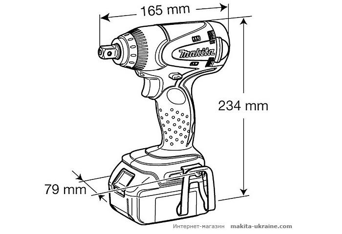 Аккумуляторный ударный гайковерт MAKITA BTW251Z