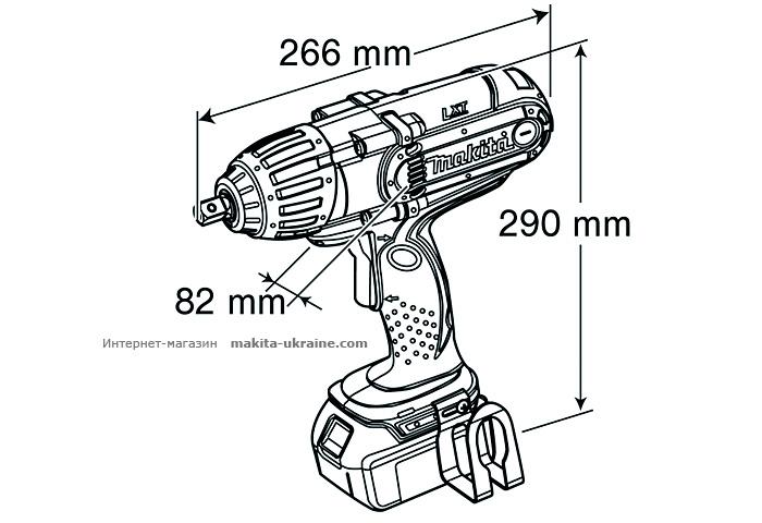 Аккумуляторный ударный гайковерт MAKITA BTW450Z