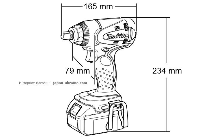 Аккумуляторный ударный гайковерт MAKITA DTW251RFJ