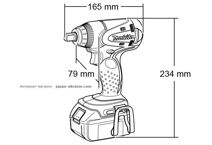 Аккумуляторный ударный гайковерт MAKITA DTW251Z