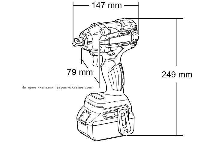 Аккумуляторный ударный гайковерт MAKITA DTW281RFE