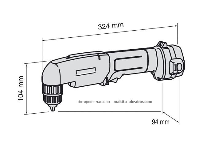 Аккумуляторная угловая дрель MAKITA DA312DWAE