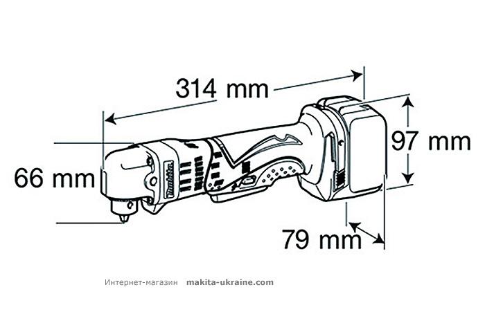 Аккумуляторная угловая дрель MAKITA DDA340Z
