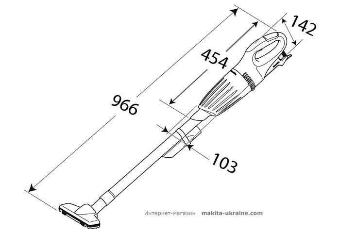 Аккумуляторный пылесос MAKITA CL070DS