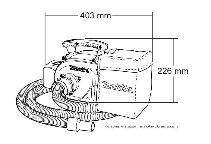 Аккумуляторный пылесос MAKITA BVC340Z