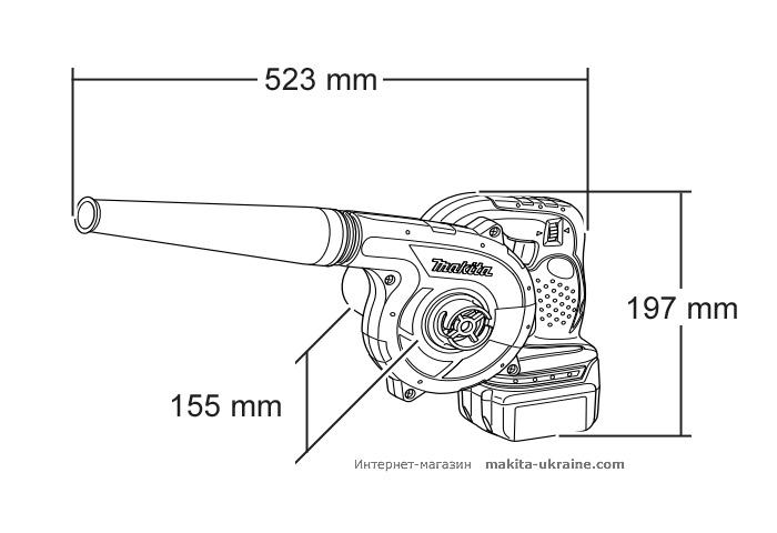Аккумуляторная воздуходувка MAKITA BUB182Z