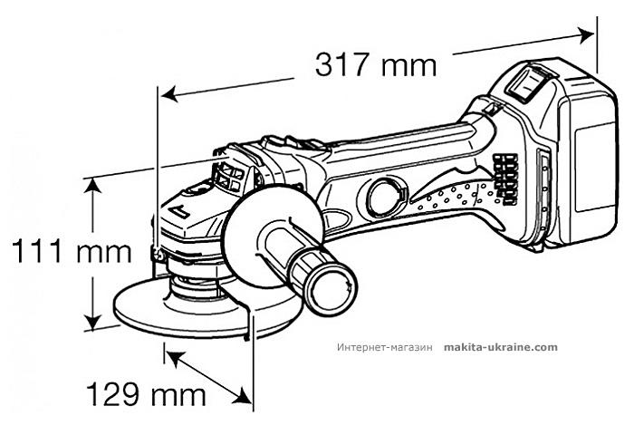 Аккумуляторная болгарка MAKITA DGA450Z