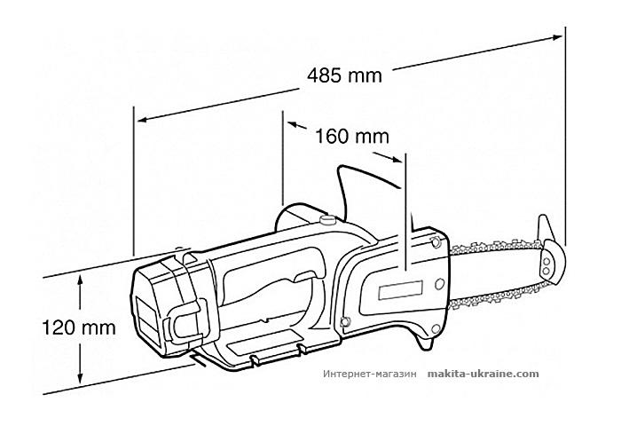 Аккумуляторная цепная пила MAKITA UC120DWAE