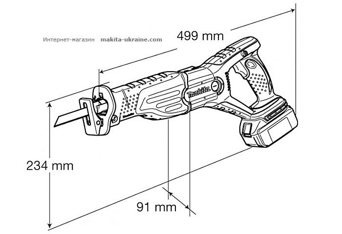 Аккумуляторная ножовка MAKITA BJR181RFE
