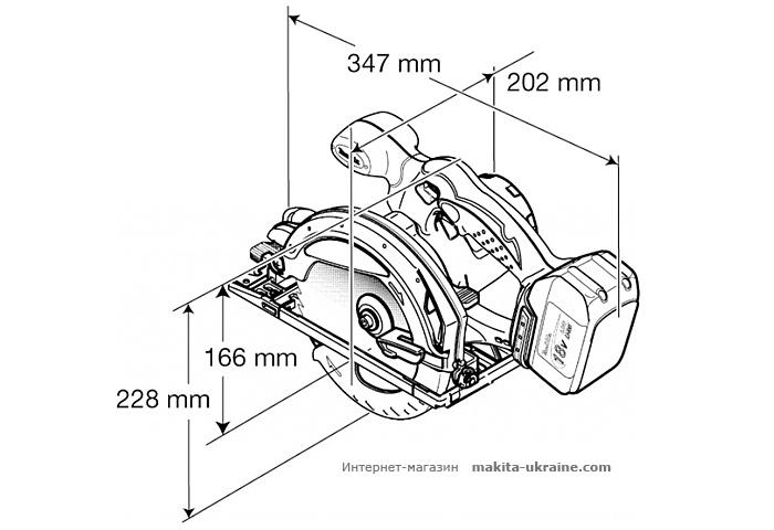 Аккумуляторная дисковая пила MAKITA BSS610RFE