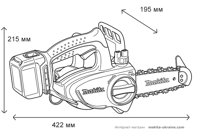 Аккумуляторная цепная пила MAKITA DUC122Z